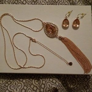 Cato necklace and earring set